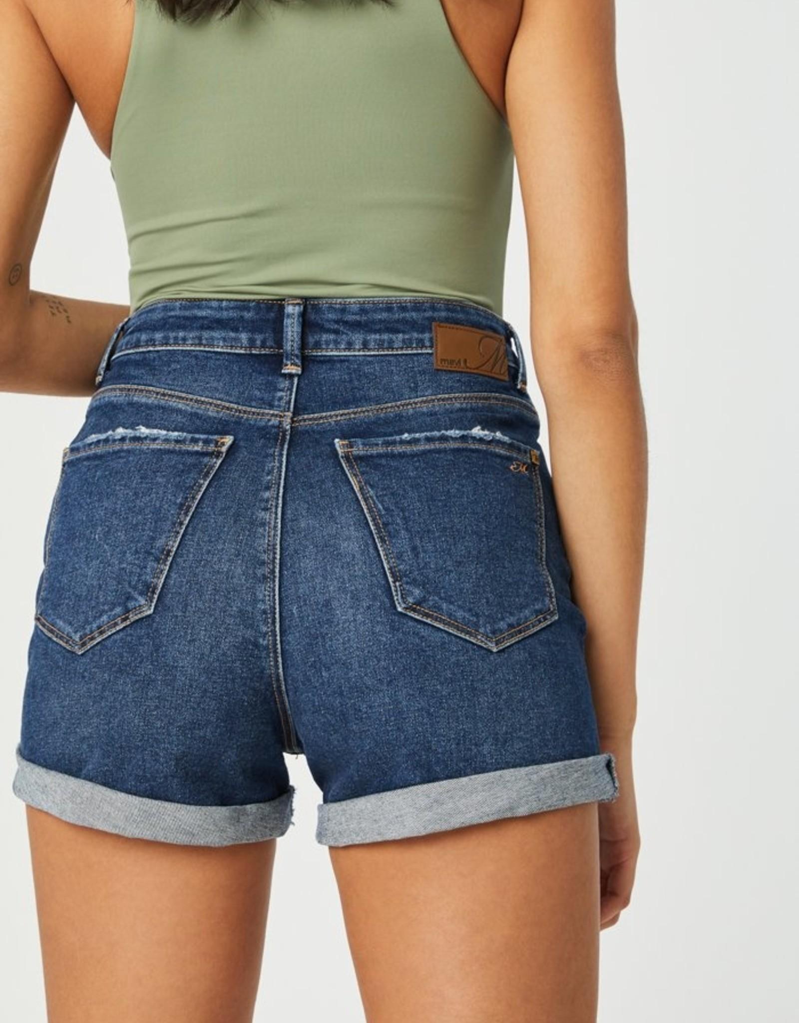 Mavi Ella Retro High Rise Cuffed Shorts