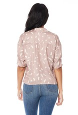 Saltwater Luxe Elouise Button-Down Short Sleeve Top