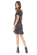 Saltwater Luxe Jaymes Ruffled Bottom Mini Dress with Tie-Detail