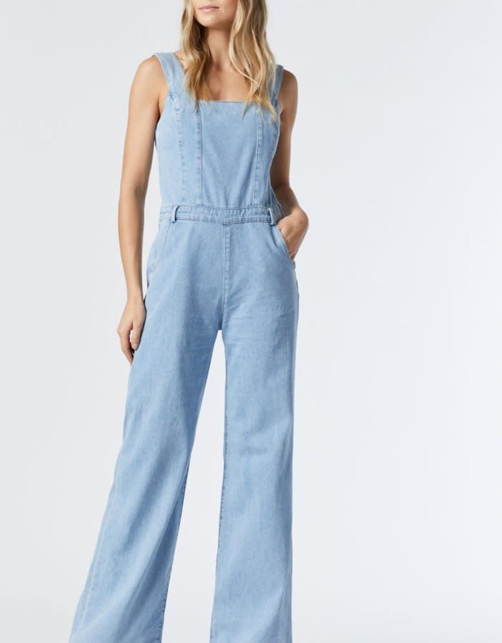 Mavi Dakota Denim Wide Leg Overalls