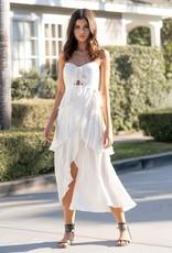 Saltwater Luxe Elliot Midi-Maxi Ruffled Wrap Dress