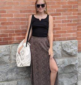 Saltwater Luxe Sadie Floral Split-thigh skirt