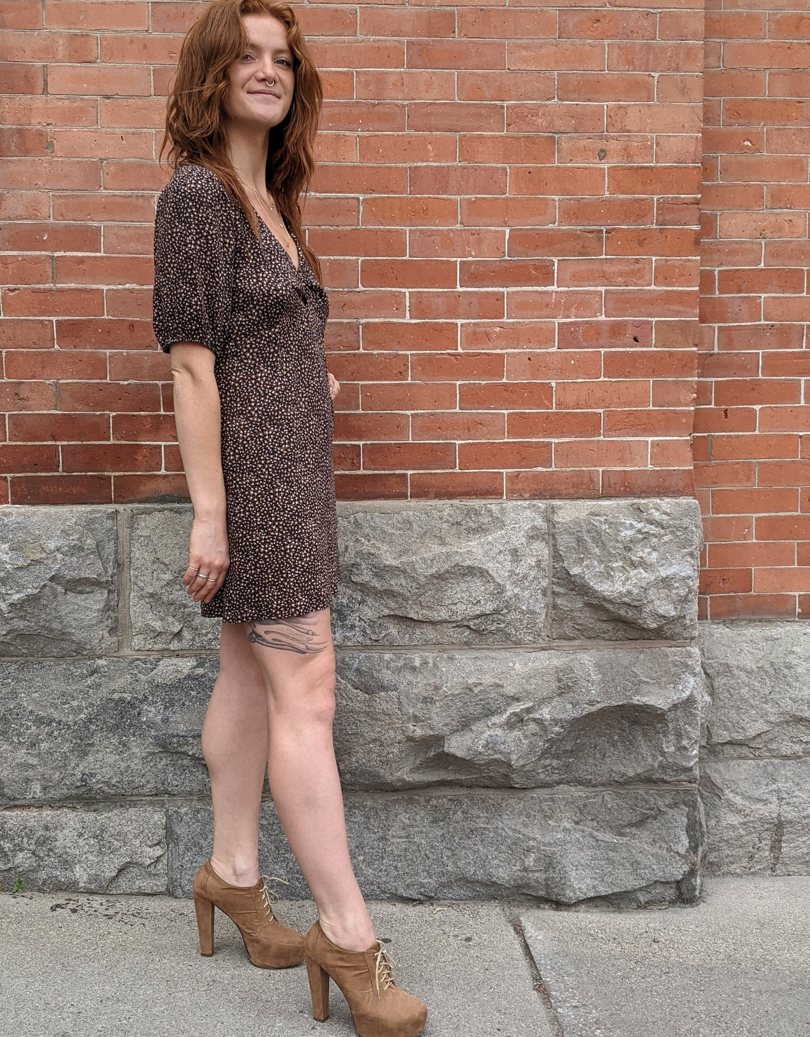 Saltwater Luxe Erika Puff Sleeve Mini Dress