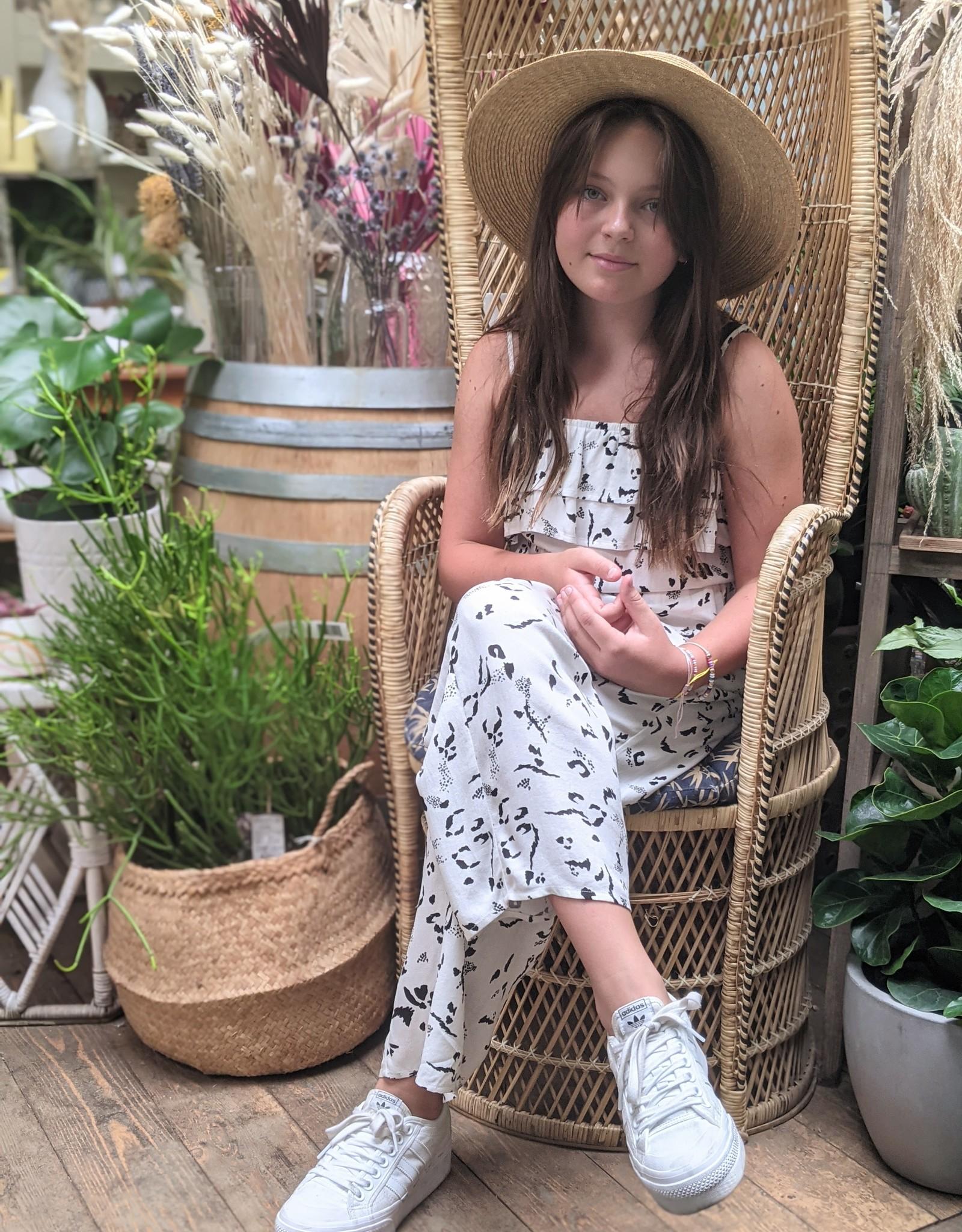 Saltwater Luxe Jenna Wide Leg Ruffle Jumpsuit