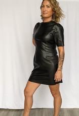 Noisy May Hill Faux Leather Mini Dress