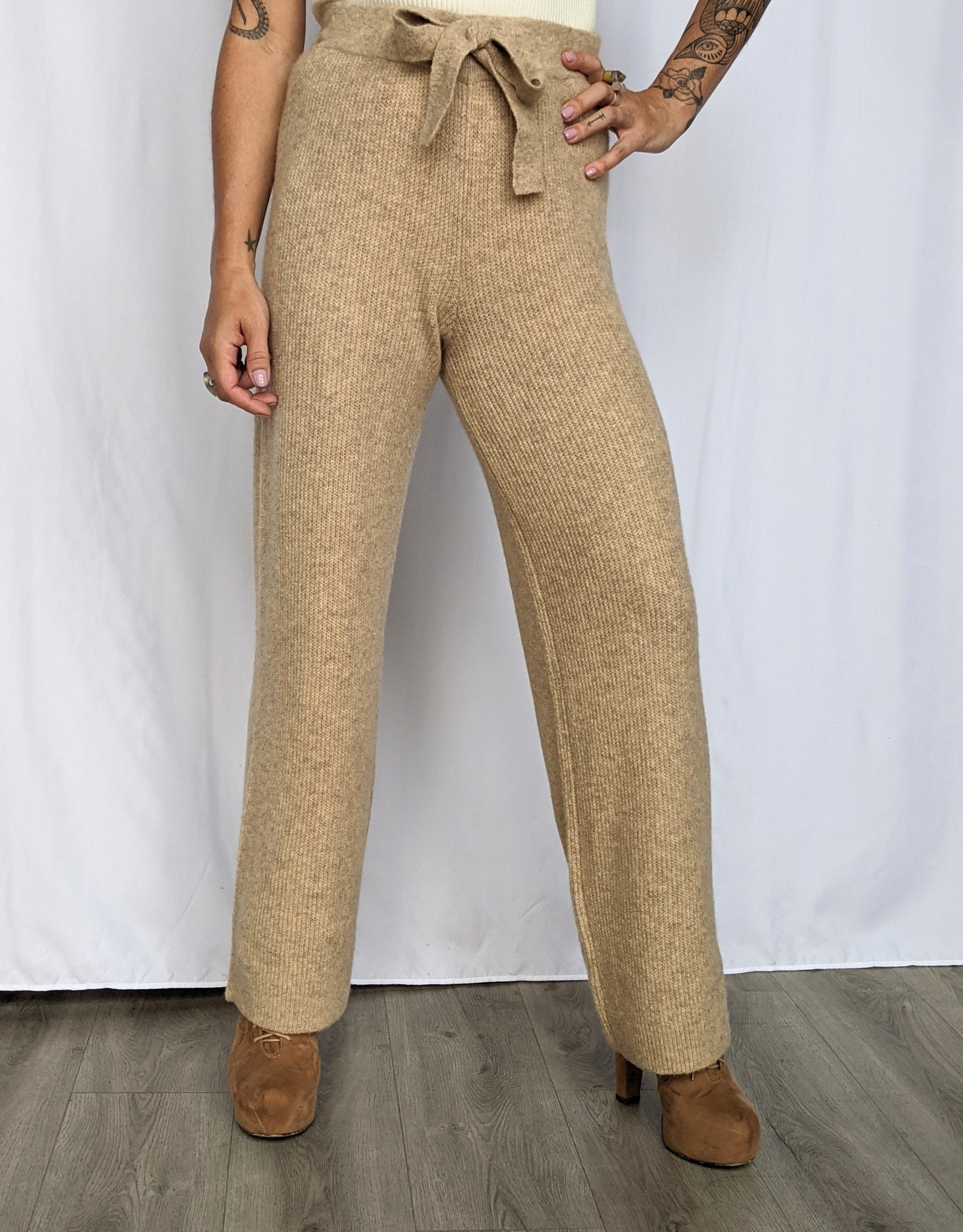 Noisy May Susie Wide Leg Knit Pants