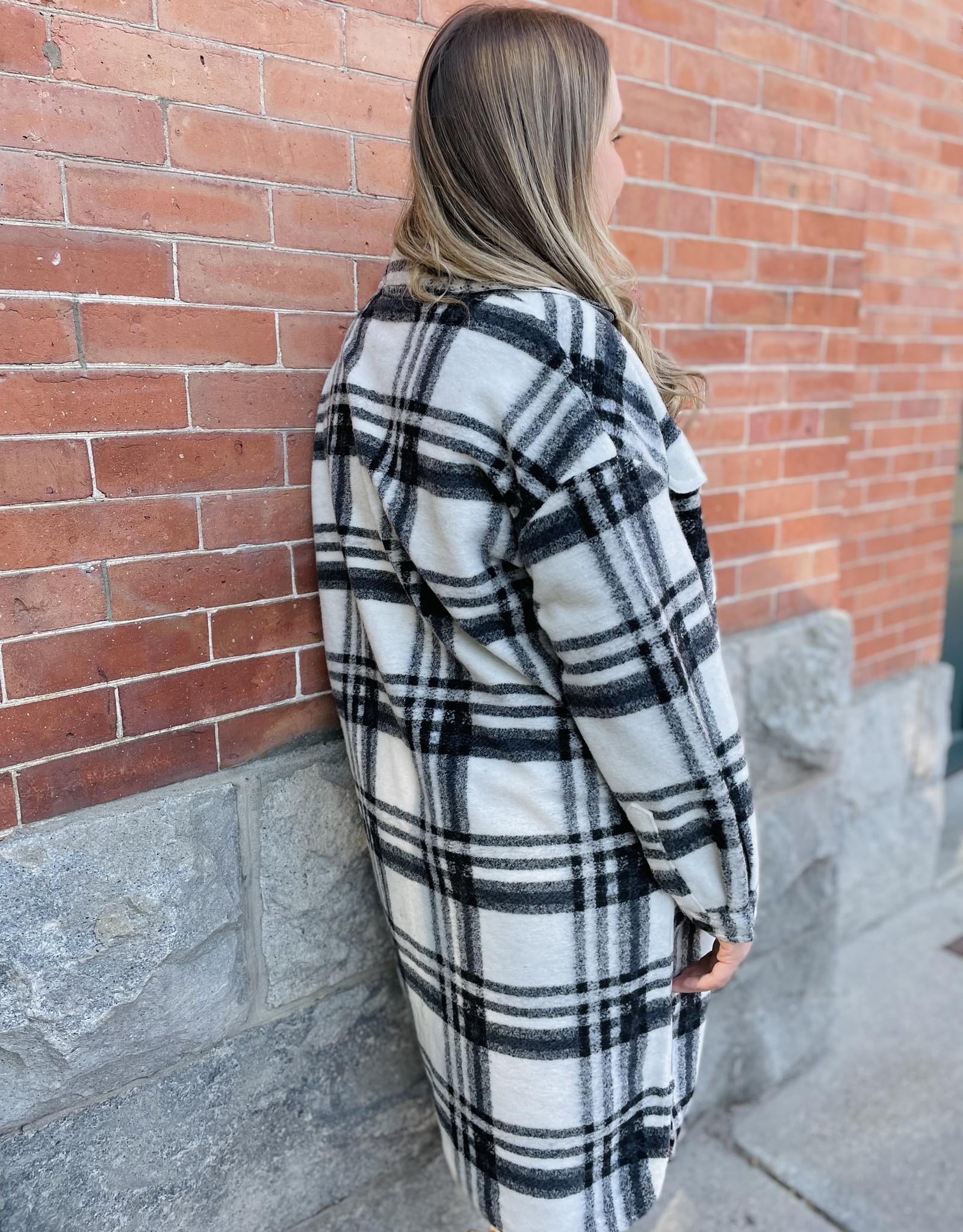 Vero Moda Carrisa Long-Line Plaid Shacket