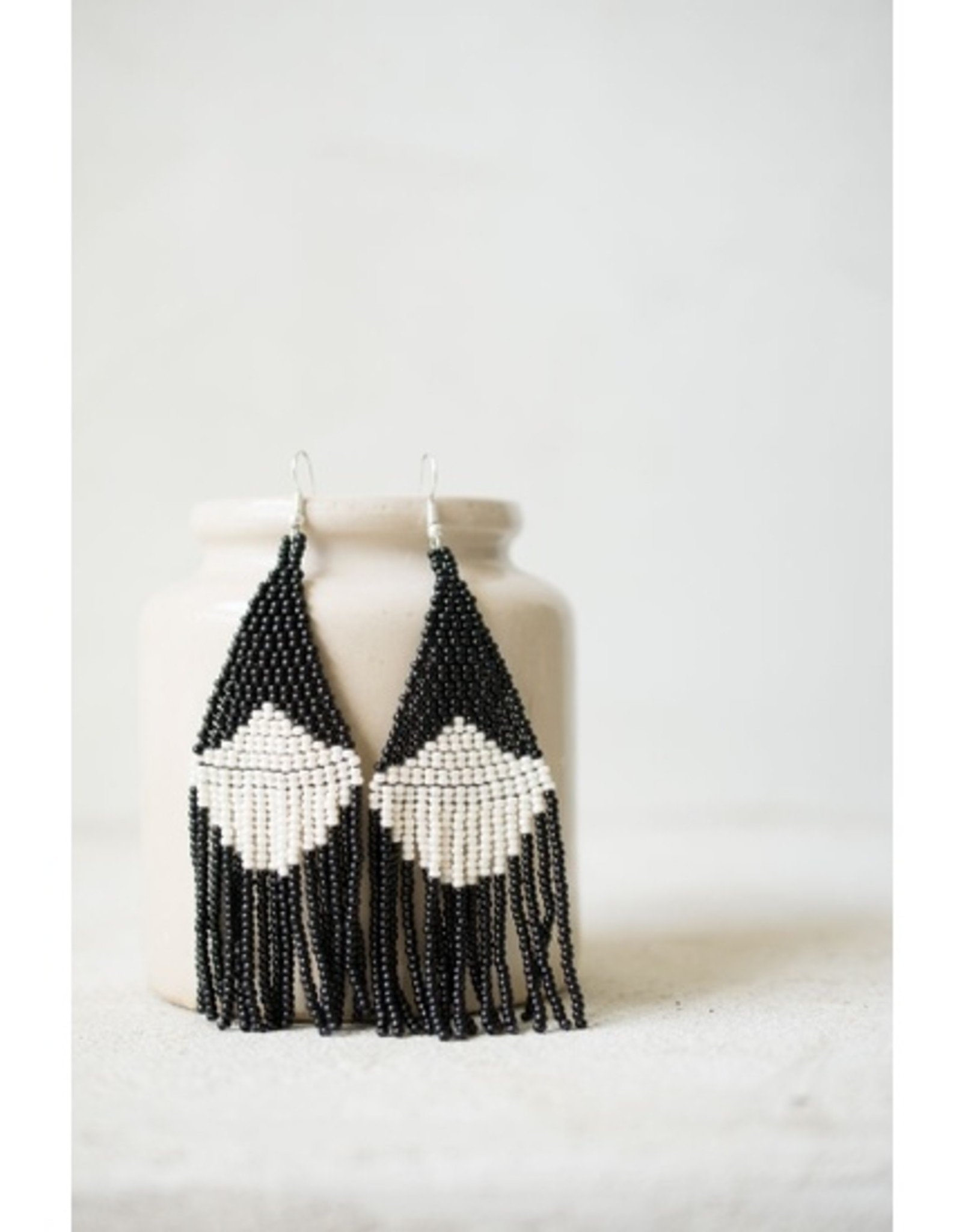 Fair + Simple Beaded Fringe Earrings