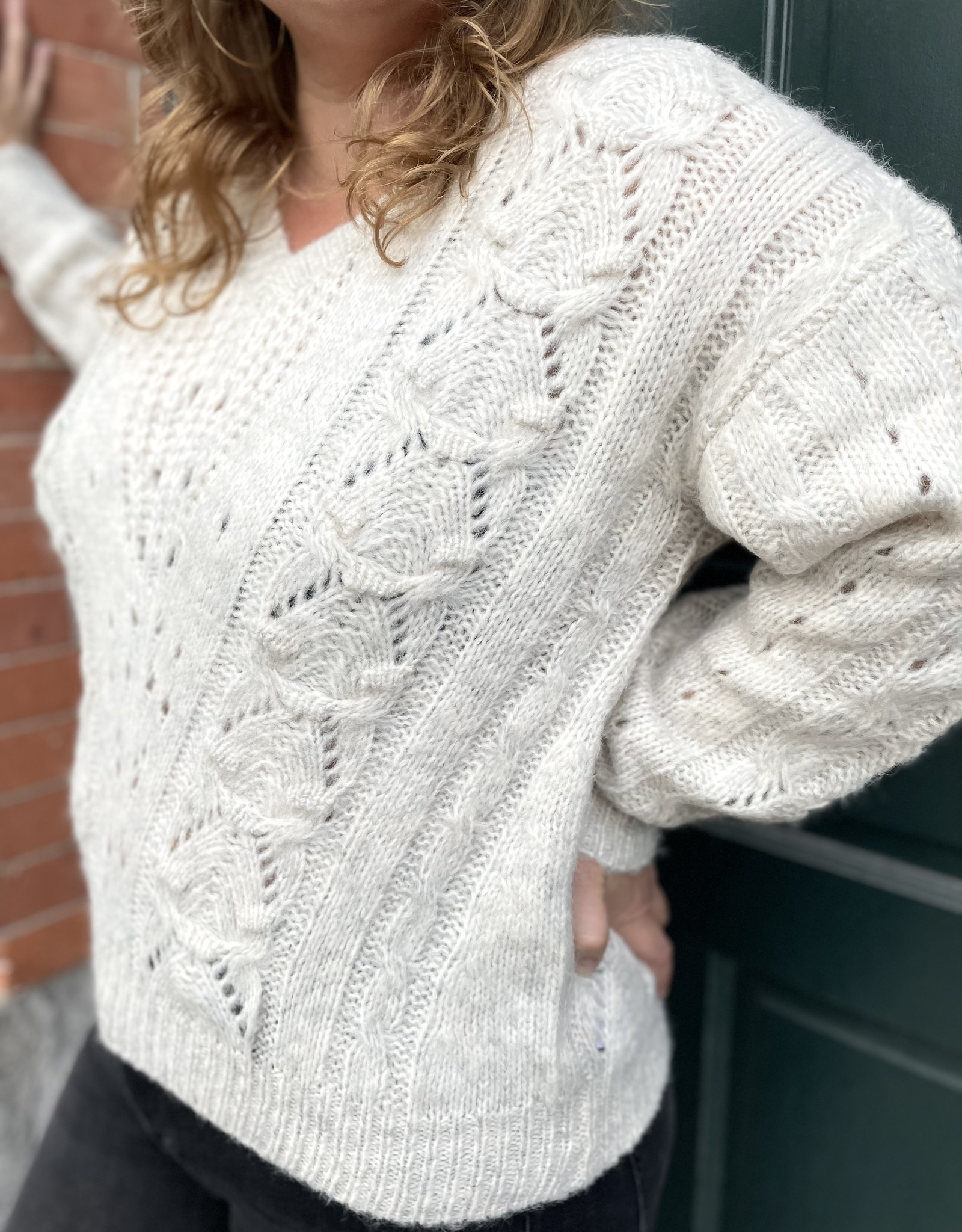 Heartloom Acadia Cable Knit Sweater