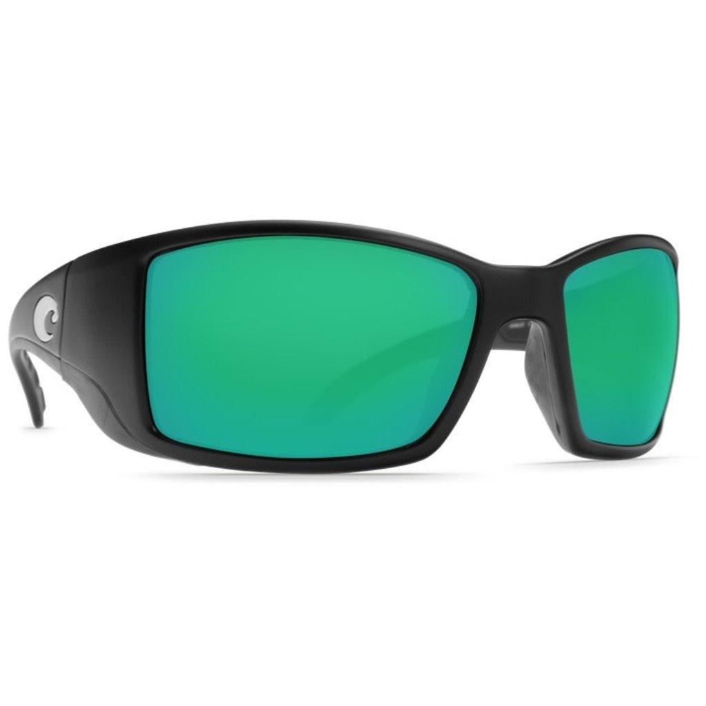 Costa Del Mar ro- Matte Black - Green Mirror BL 11 OGMGLP