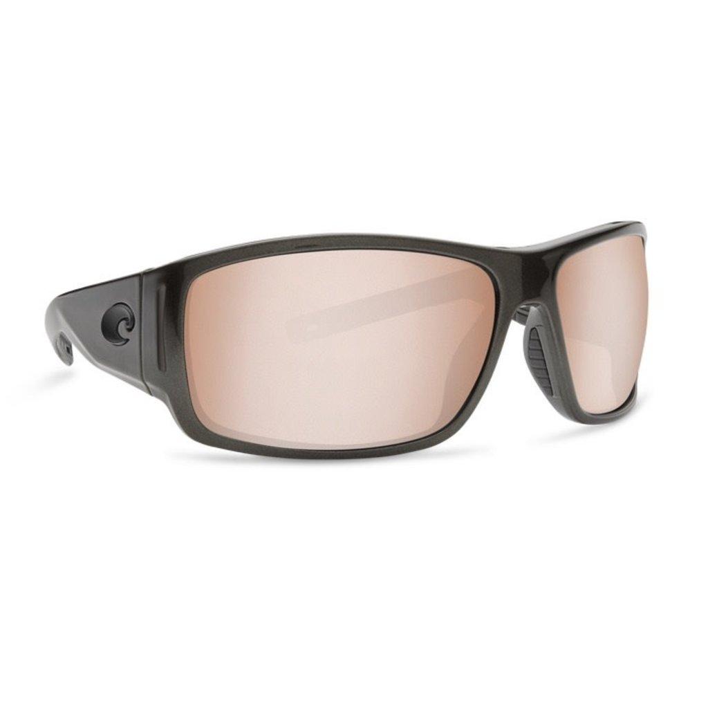 Costa Del Mar Costa Cape - Shiny Steel Gray Metallic - Copper Silver Mirror CAP 199 OSCP