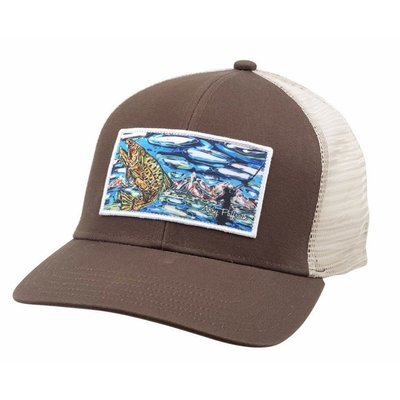 Simms Fishing Products Simms Artist Trucker Tight Lines Abby Paffrath Brown
