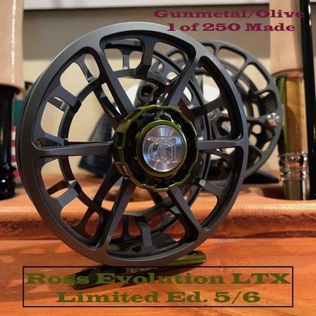 Ross Reels Ross Reels Evolution LTX Fly Reel Limited Edition | Gunmetal/Olive | 5/6