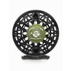 Abel Reels Abel Reels SDF Fly Reel | Basic Black | Drag Knob Satin Olive | Handle Red | 6/7