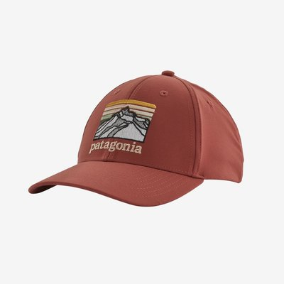 Patagonia Patagonia Line Logo Ridge Channel Watcher Cap | Spanish Red, Stone Blue, Feather Grey