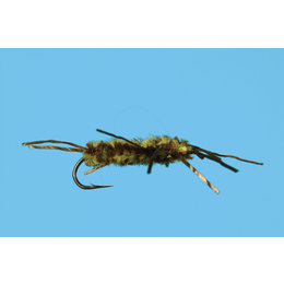 Solitude Fly Company Pat's Rubber Leg   Nymph   Olive/Brown   #6, #8, #10, #12