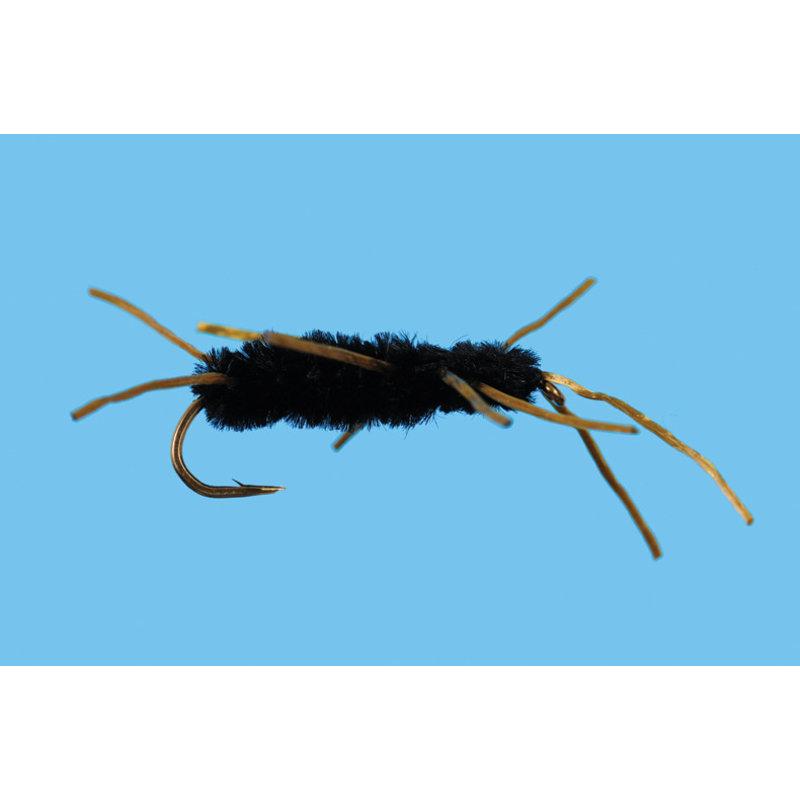 Solitude Fly Company Pat's Rubber Leg | Nymph |  Black | #4, #6, #8, #10
