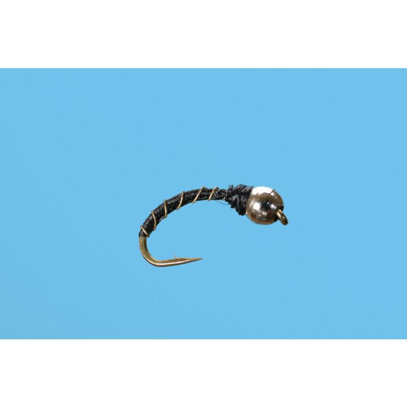 Solitude Fly Company Zebra Midge | Nymph | Silver | #20