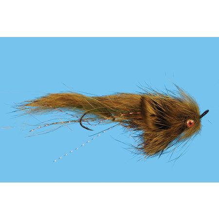 Solitude Fly Company Mini Loop Sculpin   Streamer   Natural, Olive  #6