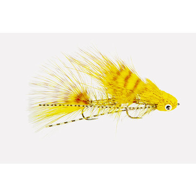 Galloup's Mini Dungeon | Articulated Streamer | Yellow, Black | #6