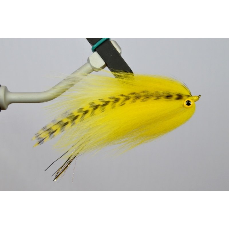 Umpqua Feather Merchants McKnight's Home Invader | Streamer | Yellow, Grizzly | #6