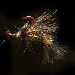 Dirty Water Fly Company Smoke & Mirrors Jig Fly | Articulated Streamer | Dirty Black | #2