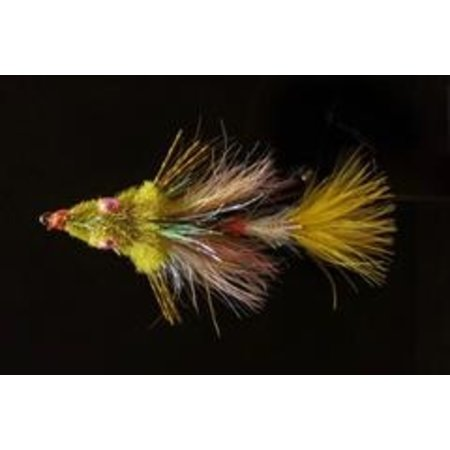 Dirty Water Fly Company Walter's Weakness Baitfish   Articulated Streamer   California Tan, Baby Rainbow  