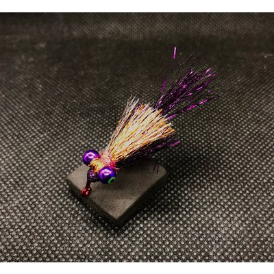 Dirty Water Fly Company Jewel Thief Jig Minnow | Streamer | Plum/Holo Copper, Gold/Silver |#4