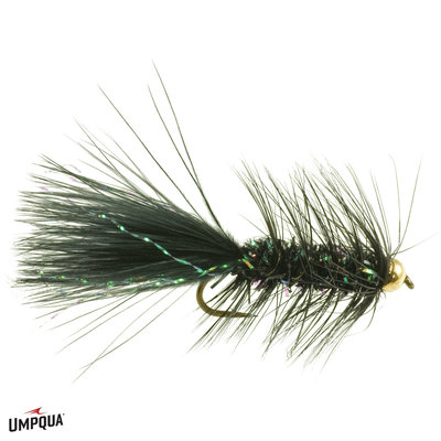Umpqua Feather Merchants Crystal Bugger | Streamer | Black, Olive  | #8