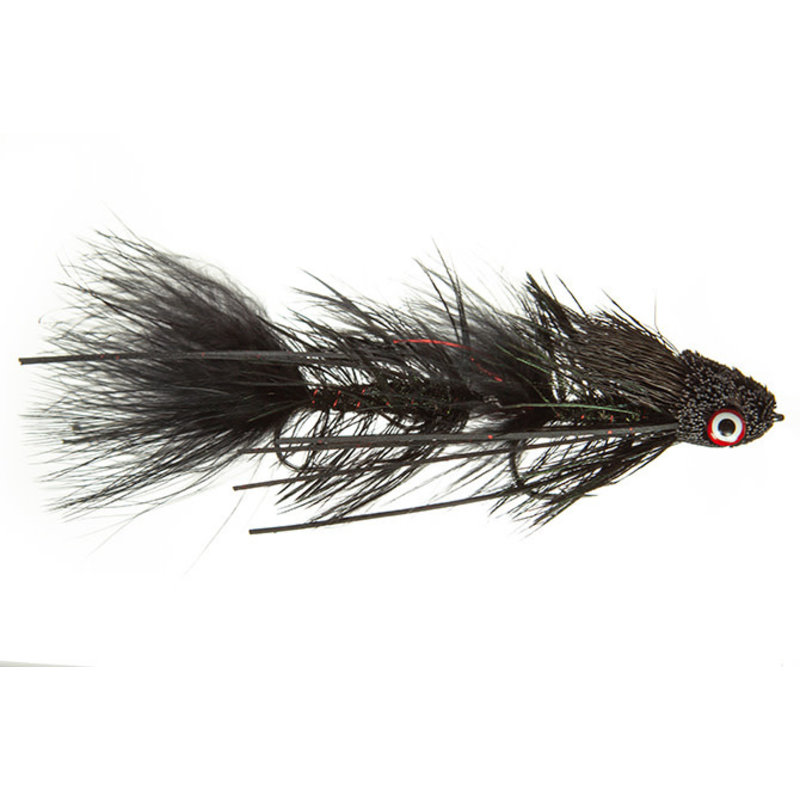 Galloup's Dungeon | Articulated Streamer | Black, Natural, Yellow | #2, #0