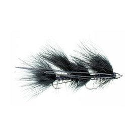 Galloup's Mini Peanut Envy | Articulated Streamer | Black, Olive | #6
