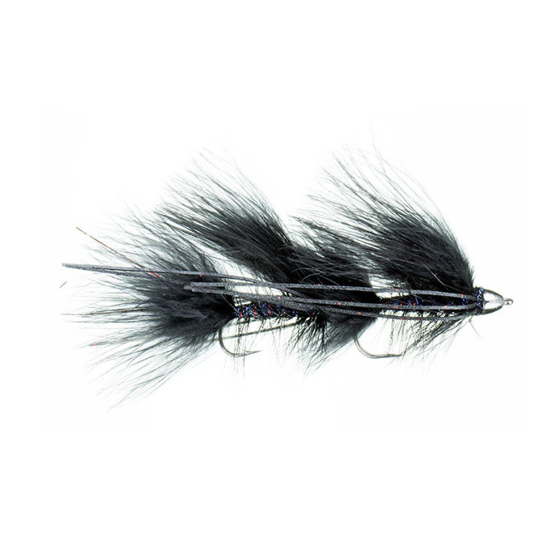 Galloup's Mini Peanut Envy | Articulated Streamer | Black, Olive | #6