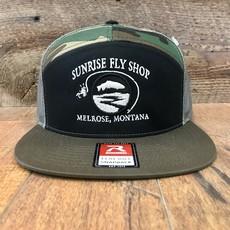 Richardson Sunrise Logo Hat | Panel Flatbill Trucker