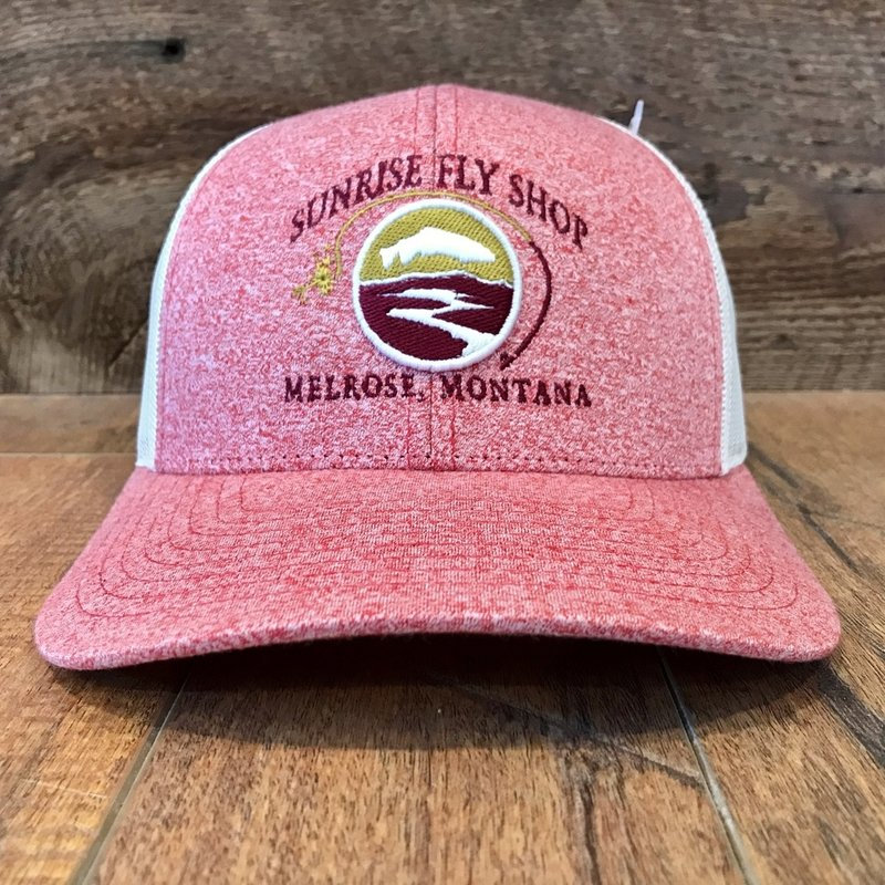 Richardson Sunrise Logo Hat | Small Low Pro Trucker | Lilac/Birch, Blue/Aluminum, Red/Birch