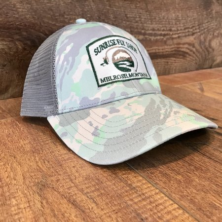 Simms Fishing Products Simms Trucker Hat Flow Camo Sunrise Icon