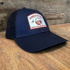 Simms Fishing Products Simms Trucker Hat Dark Moon Sunrise Icon