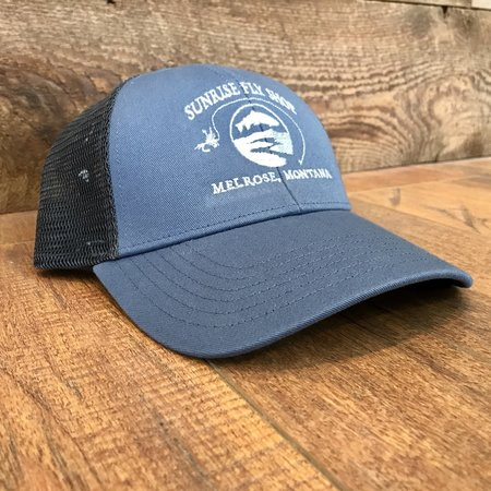 Simms Fishing Products Simms Trucker Hat Blue Stream Sunrise Icon