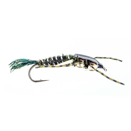 Speckled Double Bead Head Stonefly   Nymph  Peacock   #10
