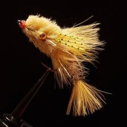 Dirty Water Fly Company Walter's Weakness Baitfish | Articulated Streamer | California Tan, Baby Rainbow | #1