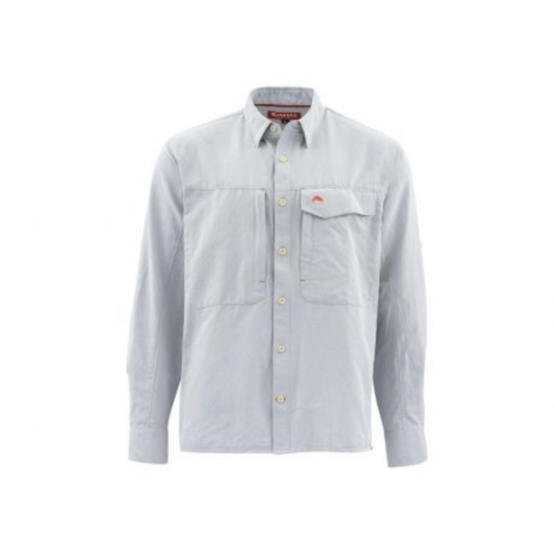 Simms Fishing Products Simms Guide LS Shirt | Dark Slate | Light Blue | With Sunrise Fly Shop Logo