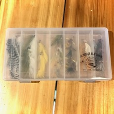 Sunrise Salt Water Streamer Fly Box | 7 Compartment