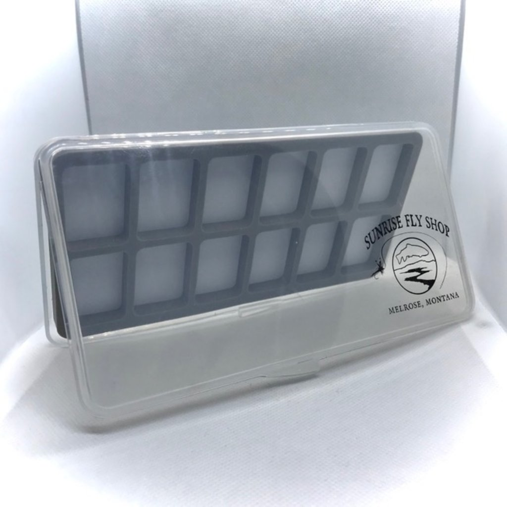 Sunrise Ultra Slim 12 Compartment Magnetic Fly Box   Large