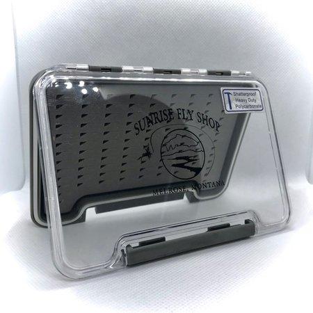 Sunrise Waterproof Fly Box With Tear Drop Foam | Medium
