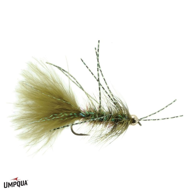 Umpqua Feather Merchants Crystal Bugger Rubber Leg | Streamer | Olive, Black | #8, #10