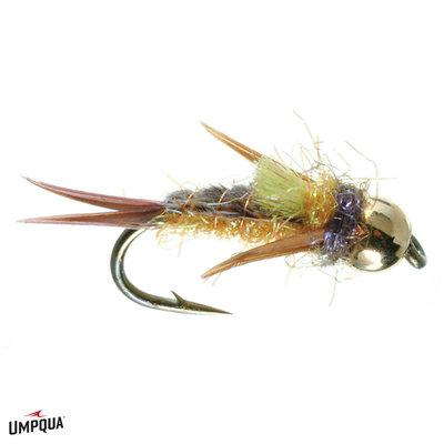 Umpqua Feather Merchants Psycho Prince | Nymph | Orange Belly, Caddis Green, Purple | #14, #16, #18