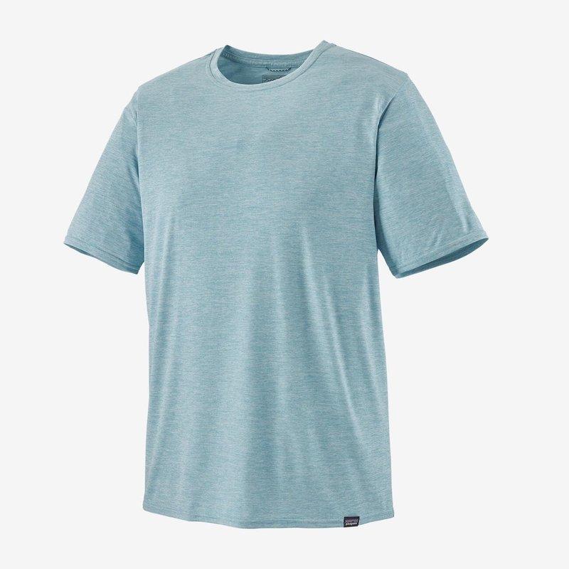 Patagonia Patagonia Cap Cool Daily Shirt | Sunrise Logo | Big Sky Blue, Light Beryl Green