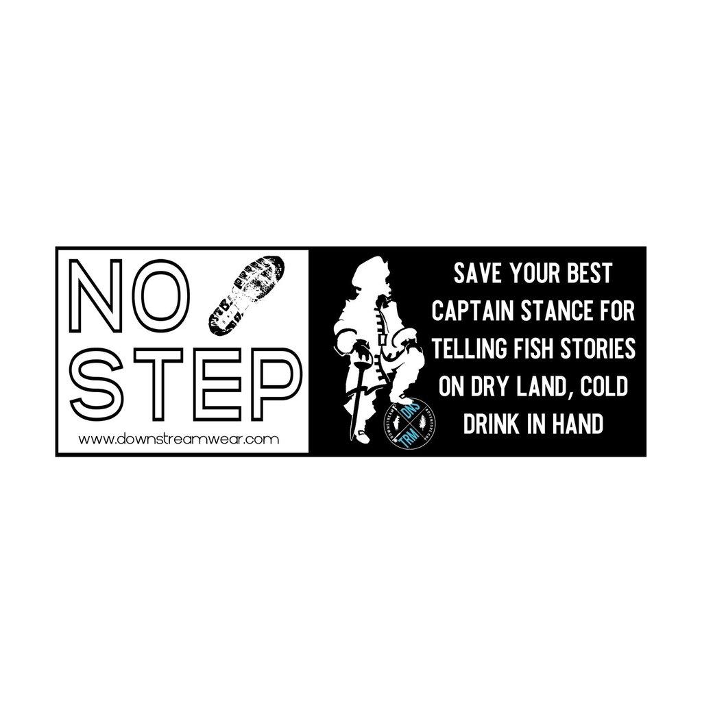 """Downstream Adventurewear Downstream """"No Step"""" Gunwale Sticker"""