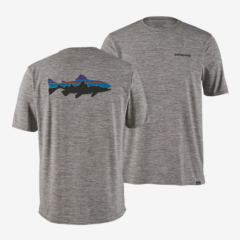 Patagonia Patagonia Cap Cool Daily Fitz Roy Trout Graphic Shirt | Feather Grey