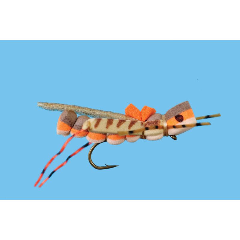 Solitude Fly Company Panty Dropper Hopper   Dry Fly   #12   #10   Tan