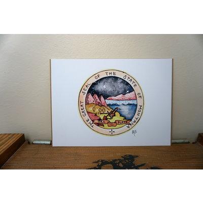 MT Seal Print | 5×7″ Alexis Hove Original Print